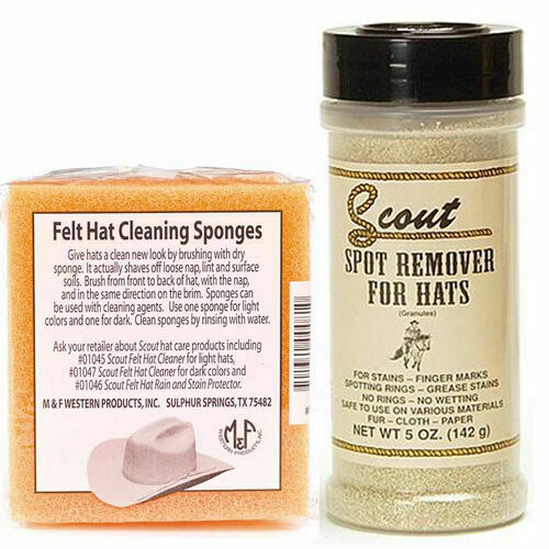 Scout Spot Remover For Hats Light Or Dark Color Hats + 2 Hat Cleaning Sponges