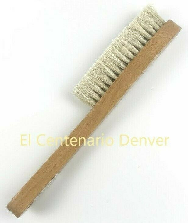 Wooden Hat Brush - For White and Light Colors -Horse Hair Bristles on Wood Frame