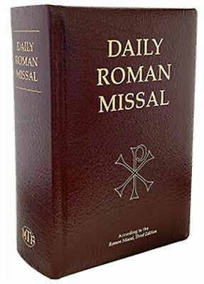 Daily Roman Missal - Burgundy Bonded Leather - Standard Print - Catholic