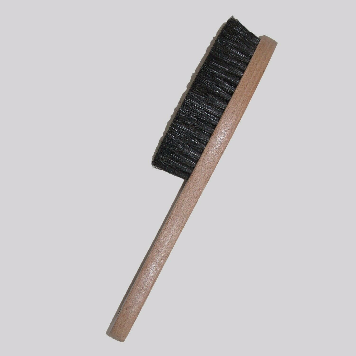 Wooden Hat Brush - Black Horse Hair Bristles on Wood Frame