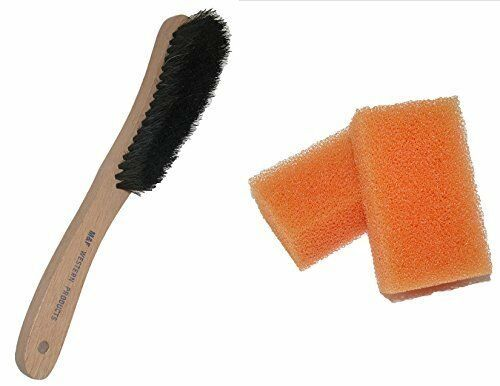 Hat Sponge and Brush Set =1 Black Hair Wood Brush + 2 Scout Hat Cleaning Sponges