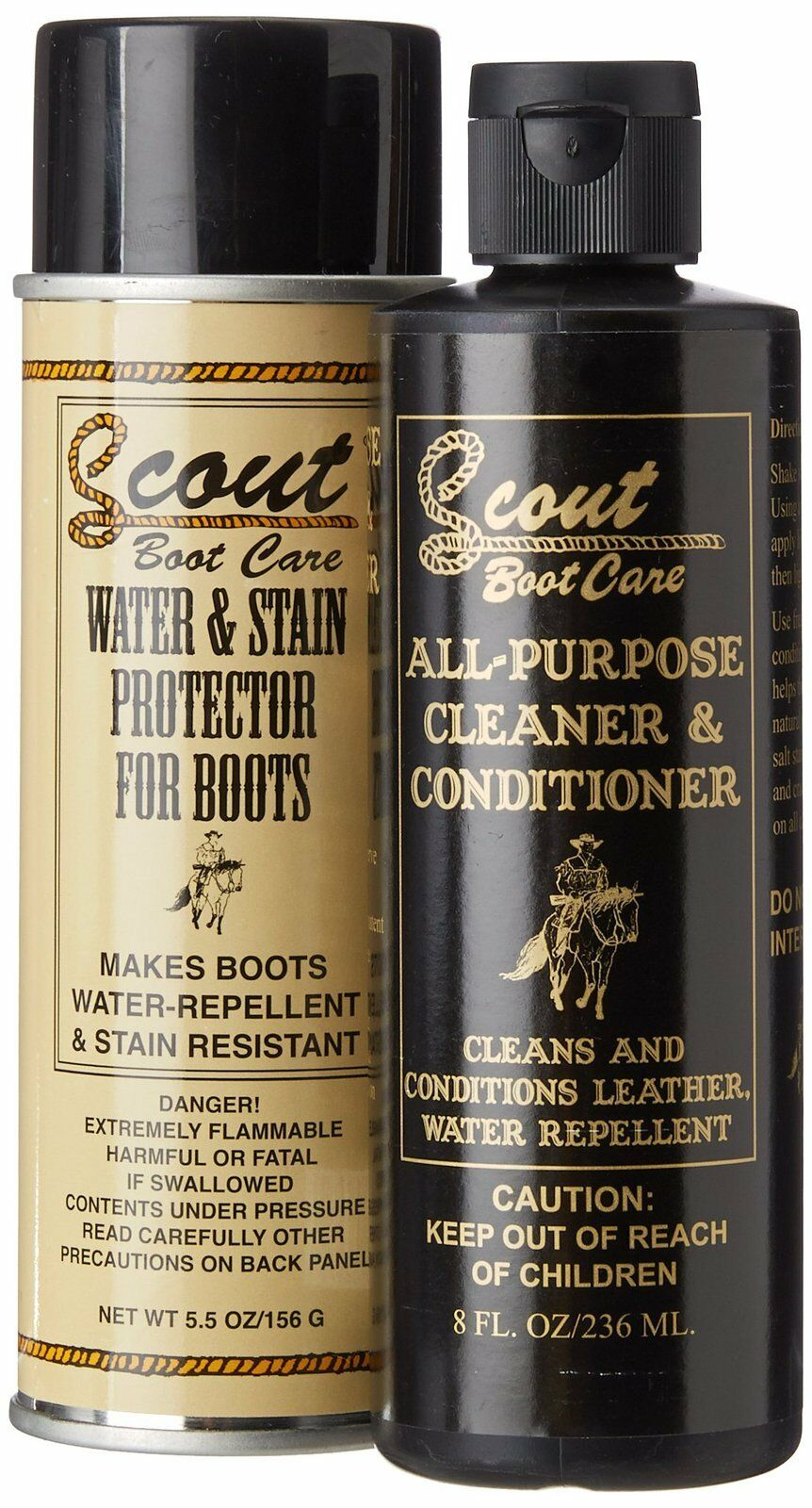 All-Purpose Cleaner and Conditioner + Water and Stain Protector for Boots -Scout