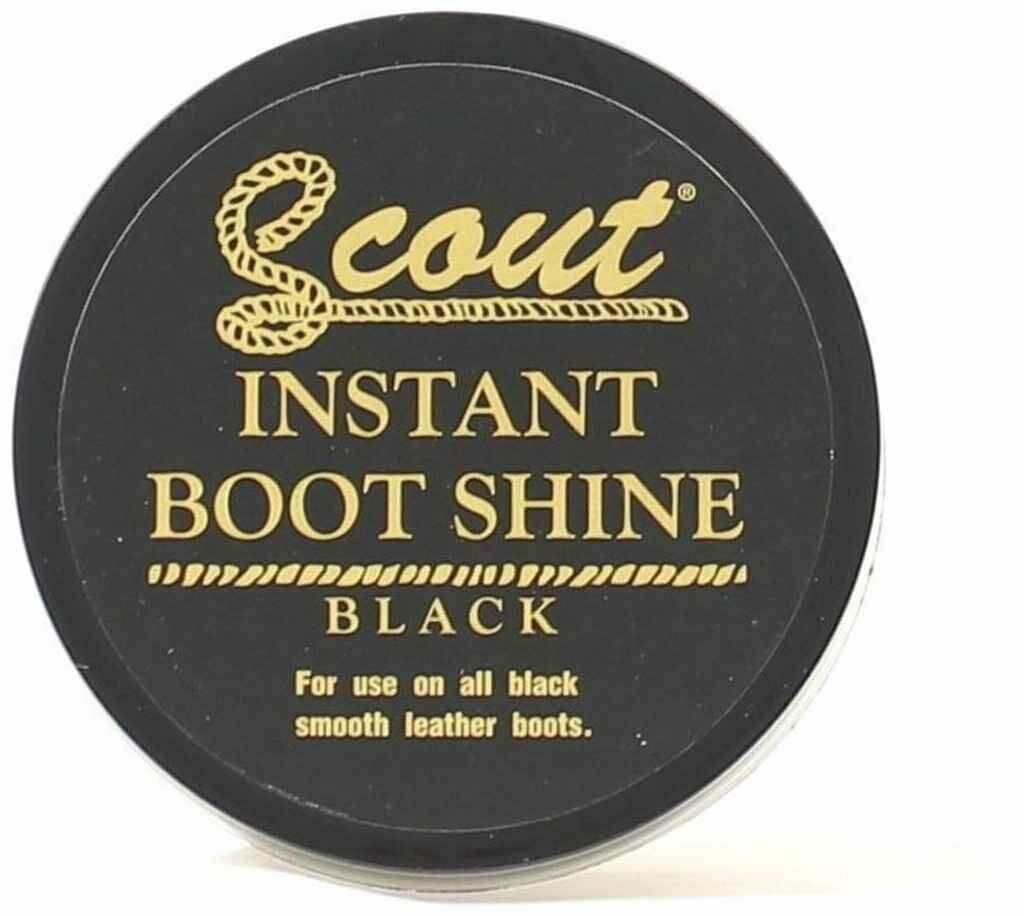 Scout Boot Instant Shine - BLACK - For Smooth Leather Shoes and Boots