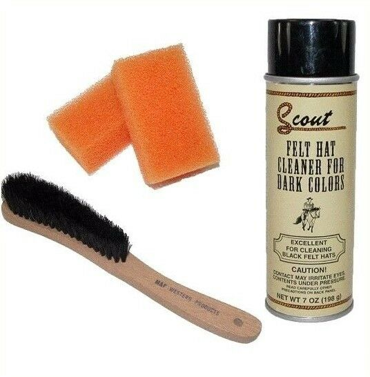 DARK COLORS Felt Hat Cleaning Set 1 Brush + 2 Sponges + 1 Cleaner Scout/Twister