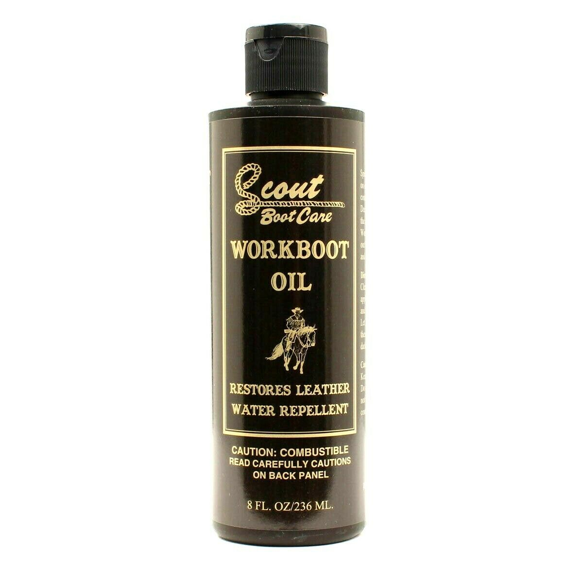 Scout Boot Care - WORKBOOT OIL - 8 Ounce Bottle - Boot and Leather Care