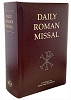 Daily Roman Missal - Burgundy/Black, Hardcover/Leather -Standard Print