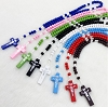 8 Small Colorful Wood Rosaries - Rosarios de Madera de Colores